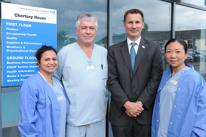 Staff with Jeremy Hunt MP