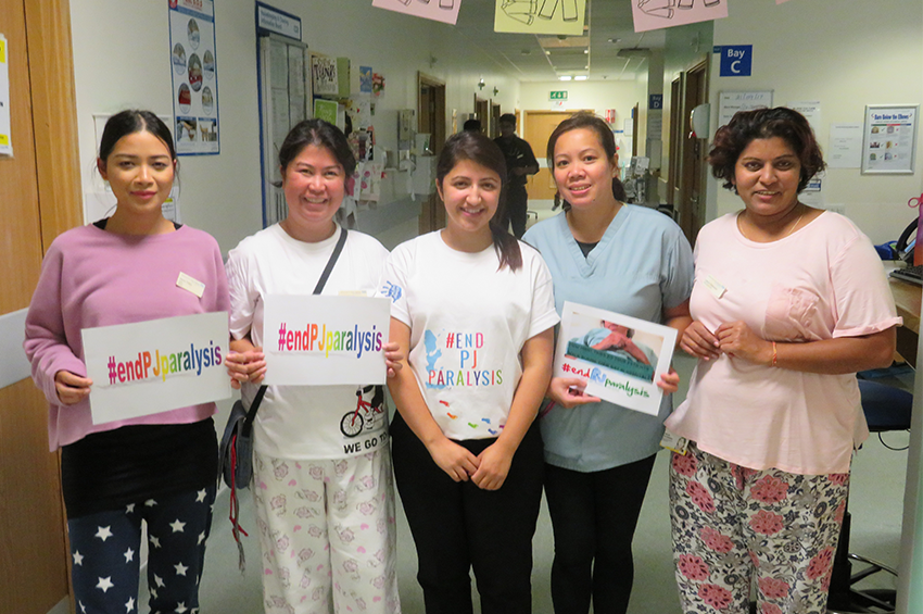 Marking the End PJ Paralysis events on the ward