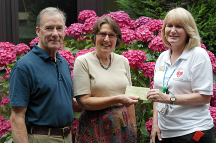 Grateful couple open garden to raise funds for Trusts' Cardiac Risk Management Services - Read the article