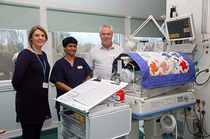 Raising awareness of World Prematurity Day 2014 at St Peter's Hospital - Read the article