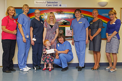 Hope's grateful parents carry on raising funds for St Peter's life-saving Neonatal unit - Read the article