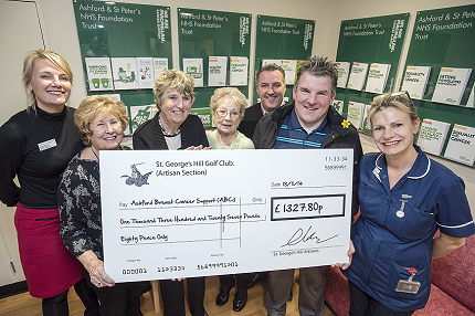 Golf Club Raise Money for Support Group - Read the article